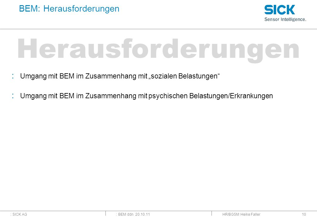 BEM: Herausforderungen