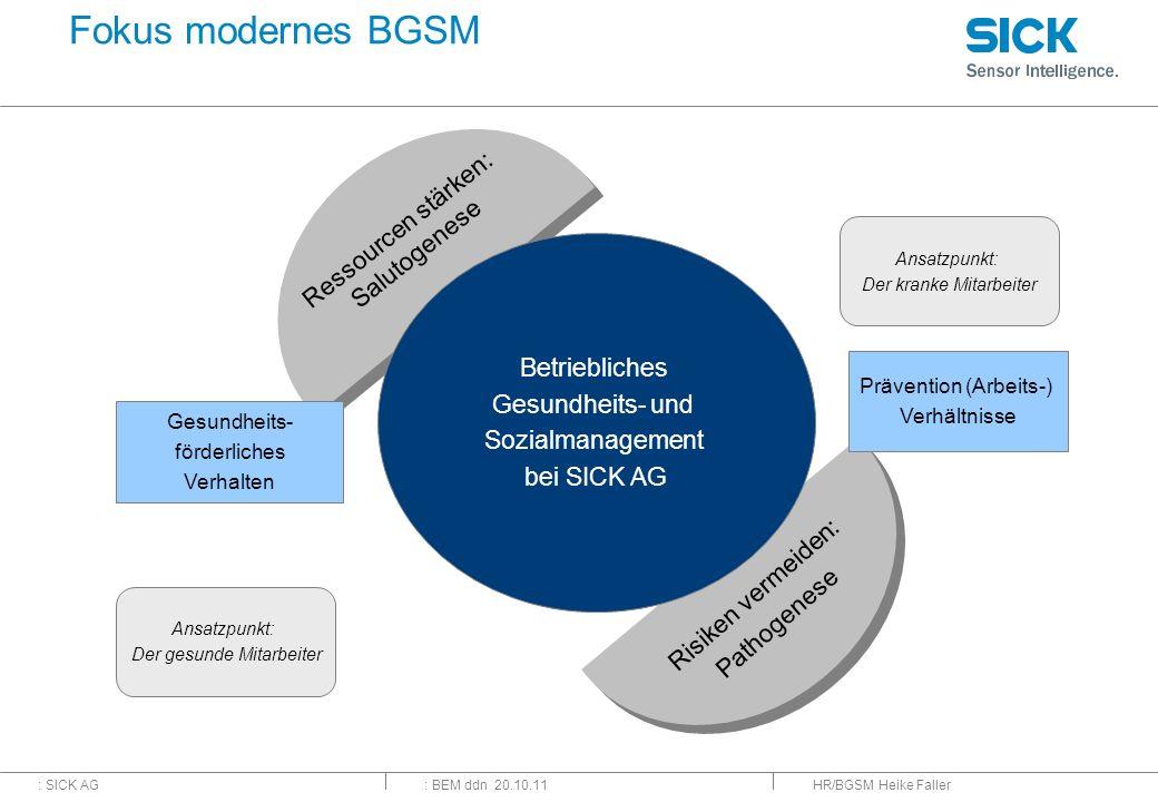 Fokus modernes BGSM Ressourcen stärken: Salutogenese Betriebliches