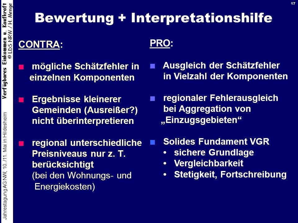 Bewertung + Interpretationshilfe