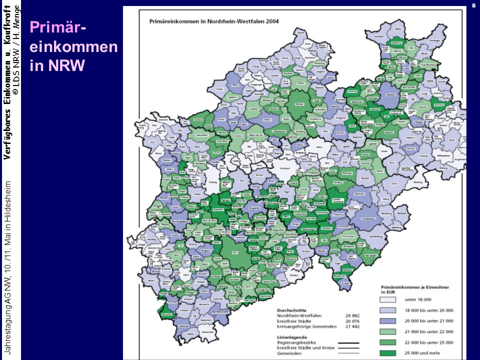 Primär- einkommen in NRW