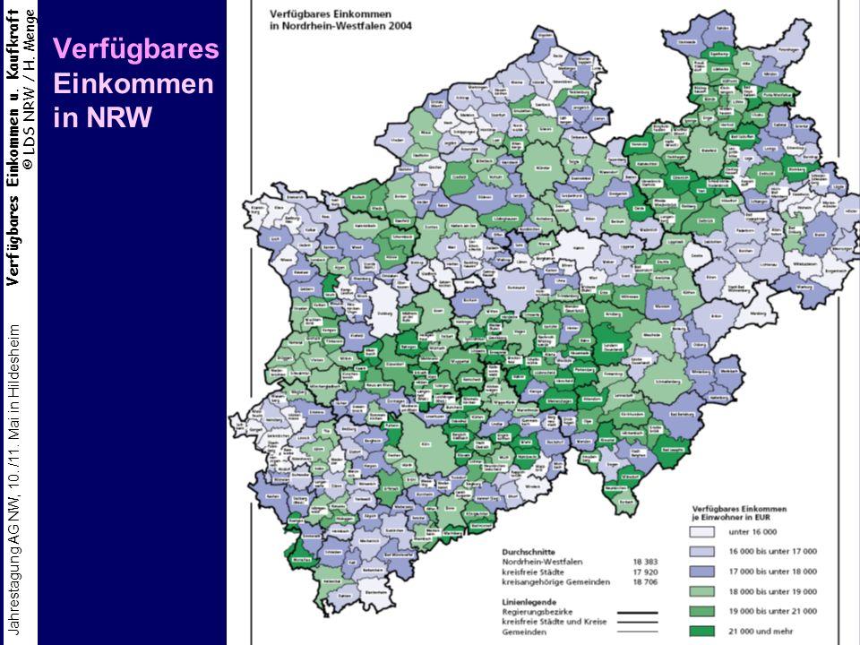 Verfügbares Einkommen in NRW