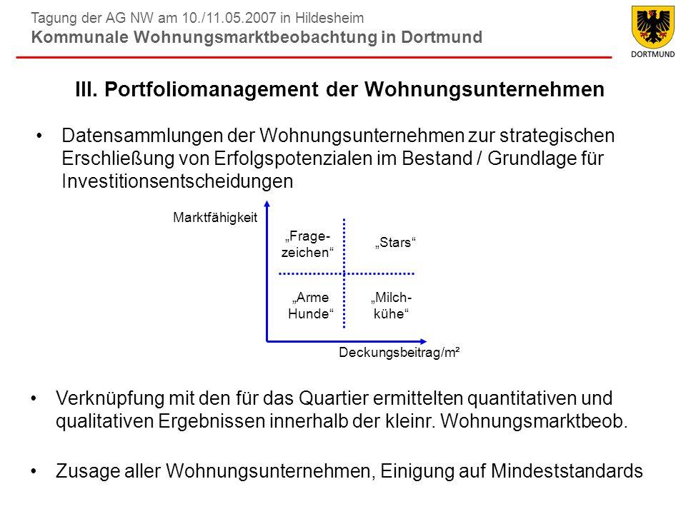 III. Portfoliomanagement der Wohnungsunternehmen