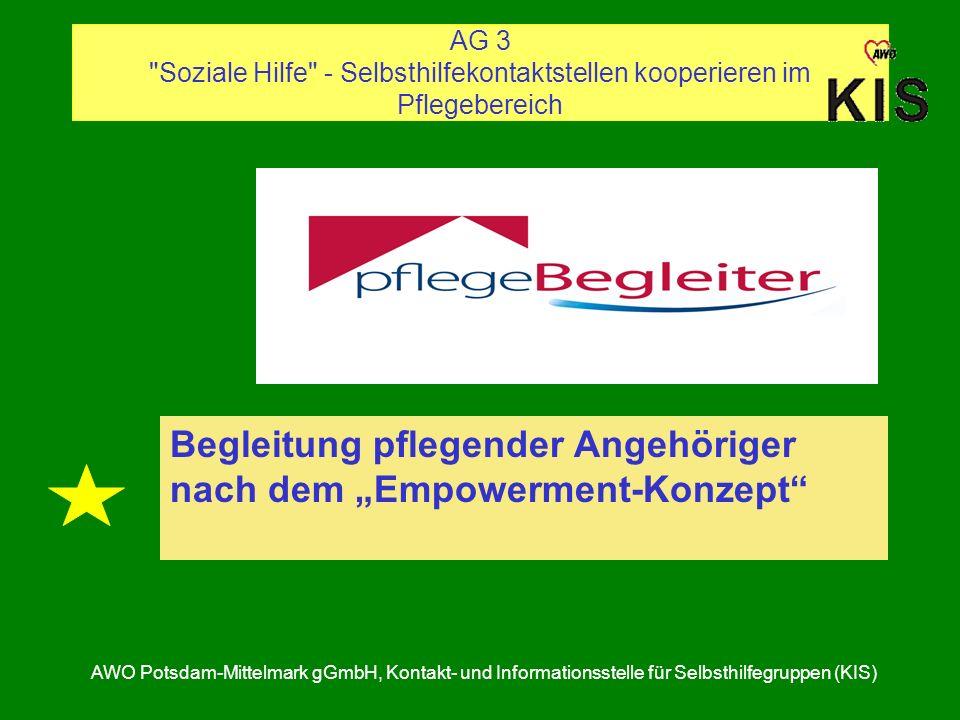 """Begleitung pflegender Angehöriger nach dem """"Empowerment-Konzept"""