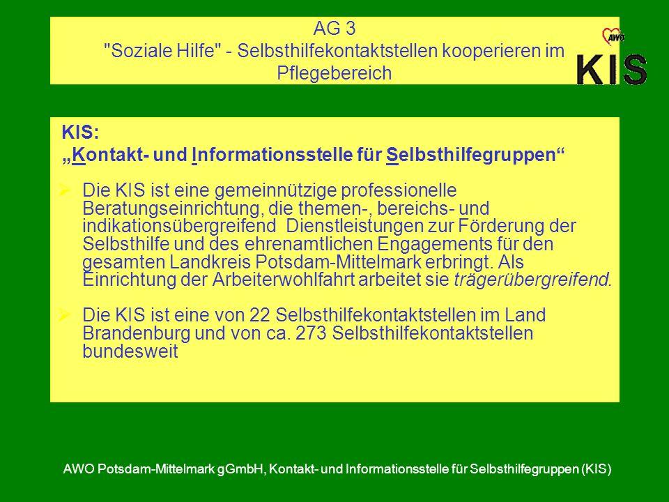 """""""Kontakt- und Informationsstelle für Selbsthilfegruppen"""