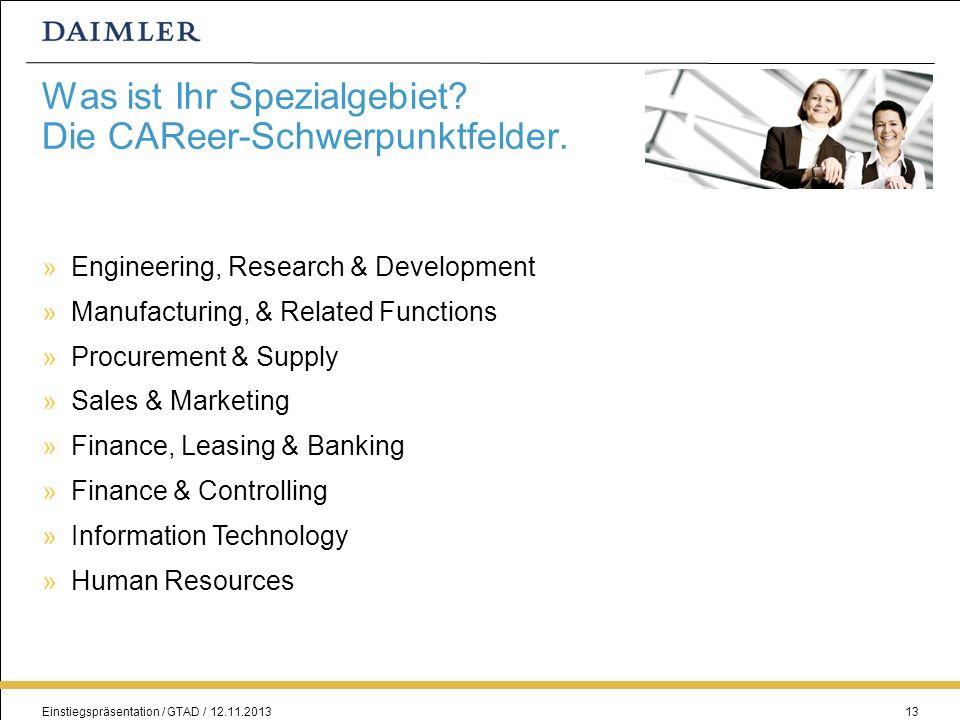 Was ist Ihr Spezialgebiet Die CAReer-Schwerpunktfelder.