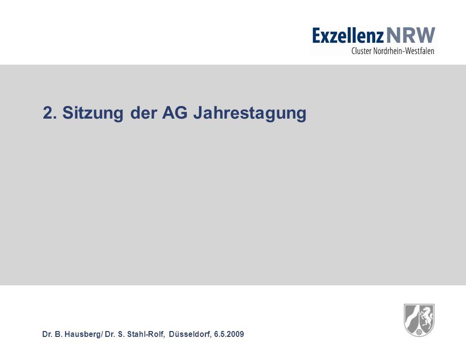 2. Sitzung der AG Jahrestagung