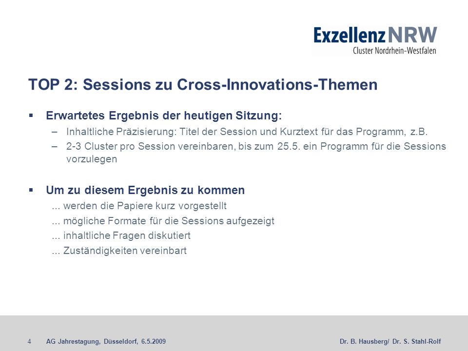 TOP 2: Sessions zu Cross-Innovations-Themen
