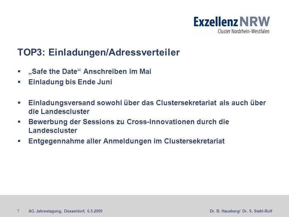 TOP3: Einladungen/Adressverteiler