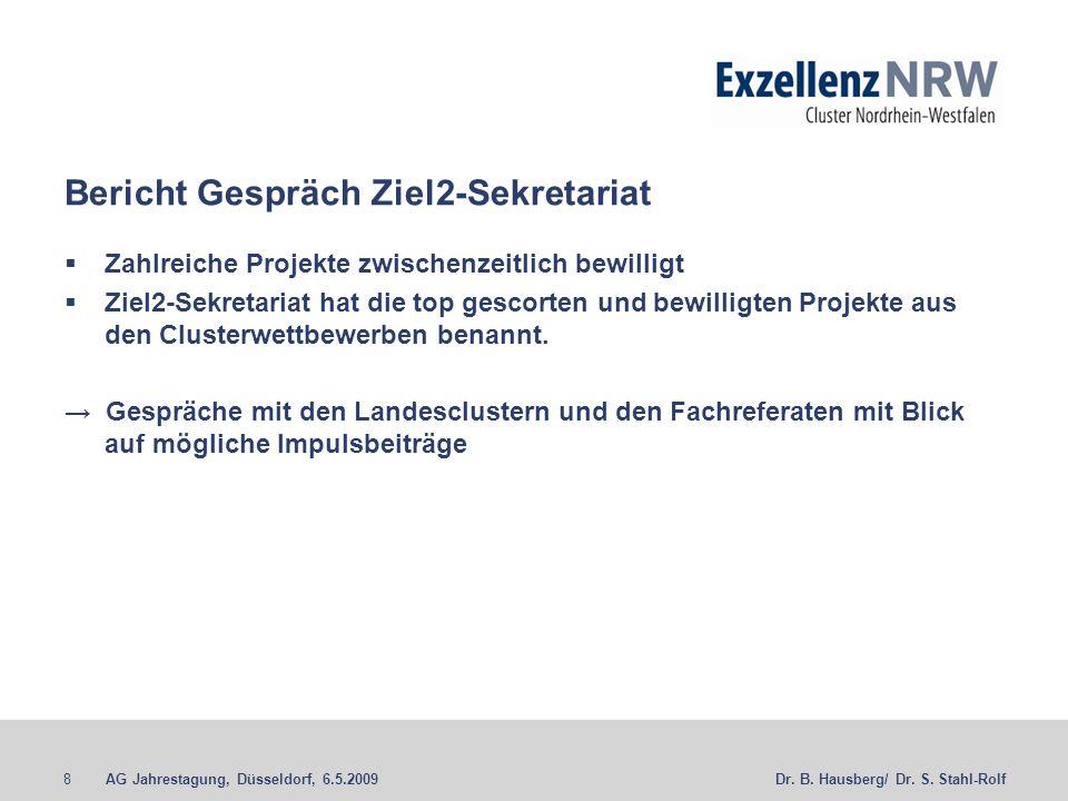 Bericht Gespräch Ziel2-Sekretariat