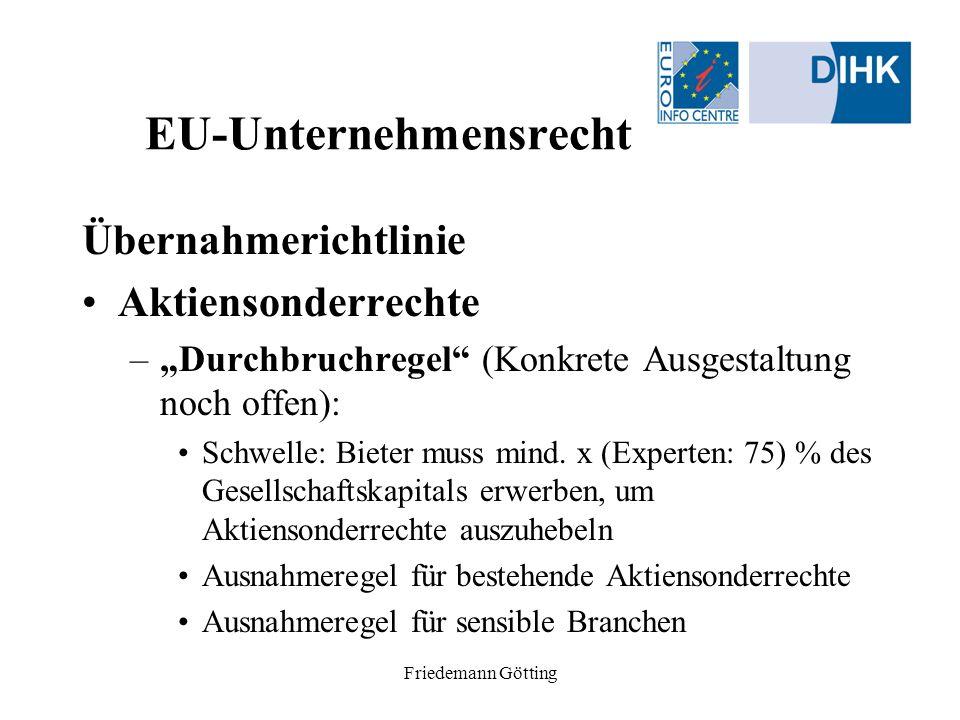 EU-Unternehmensrecht