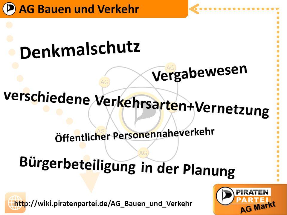 Denkmalschutz Vergabewesen verschiedene Verkehrsarten+Vernetzung