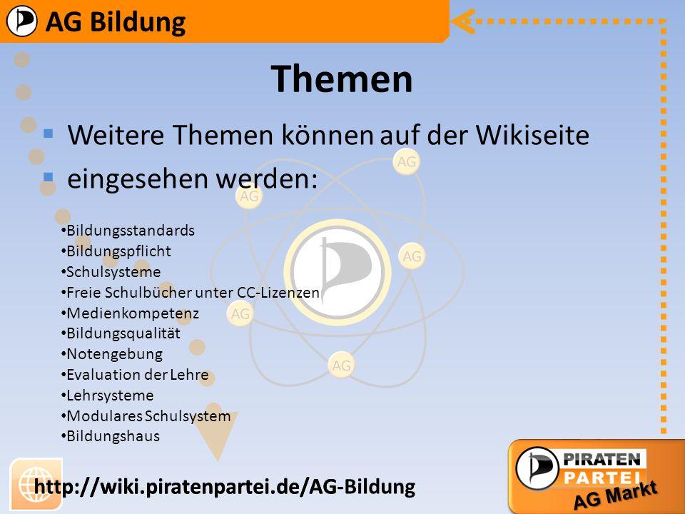 Themen Weitere Themen können auf der Wikiseite eingesehen werden: