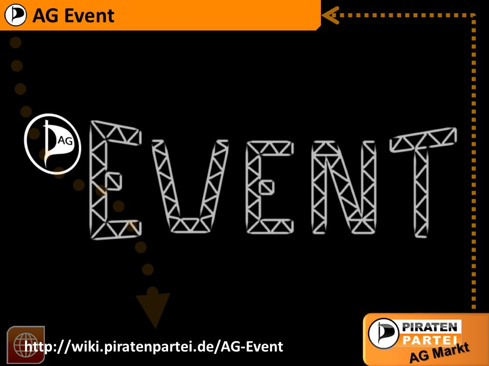 AG Event http://wiki.piratenpartei.de/AG-Event AG Markt