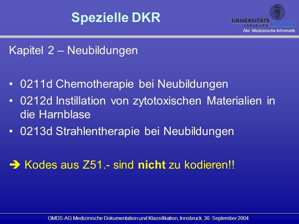 Spezielle DKR Kapitel 2 – Neubildungen