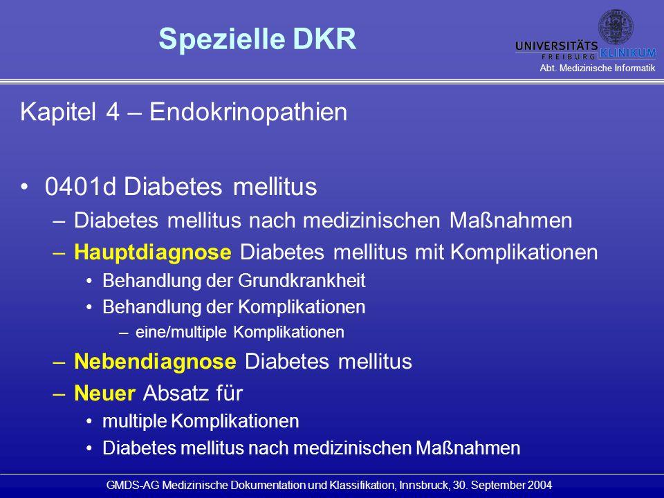 Spezielle DKR Kapitel 4 – Endokrinopathien 0401d Diabetes mellitus