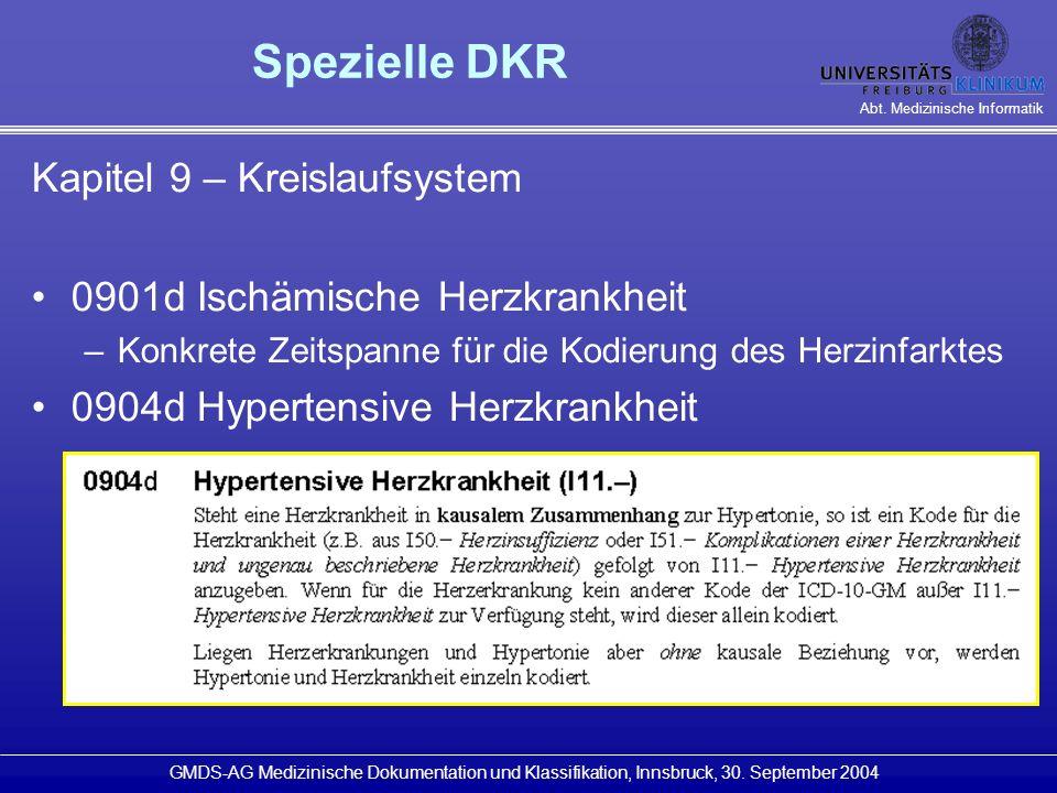 Spezielle DKR Kapitel 9 – Kreislaufsystem