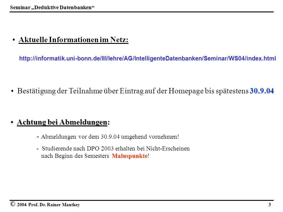 Aktuelle Informationen im Netz: