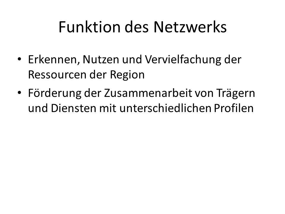 Funktion des Netzwerks