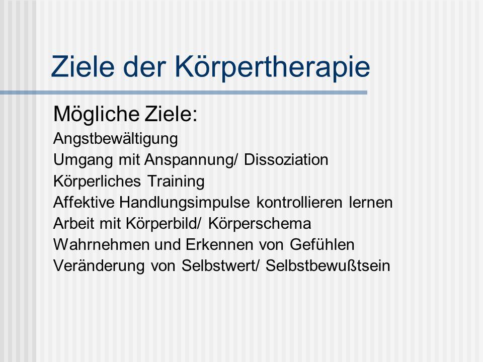 Ziele der Körpertherapie
