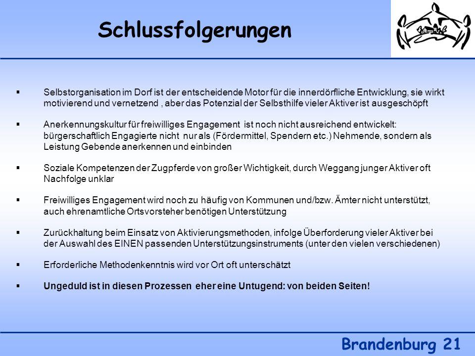 Schlussfolgerungen Brandenburg 21