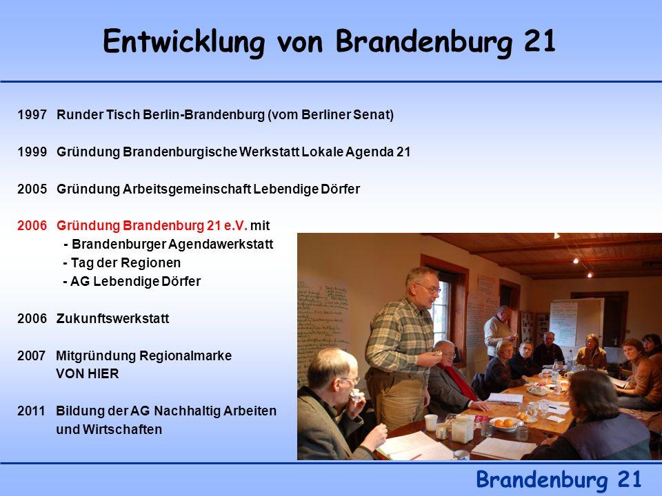 Entwicklung von Brandenburg 21