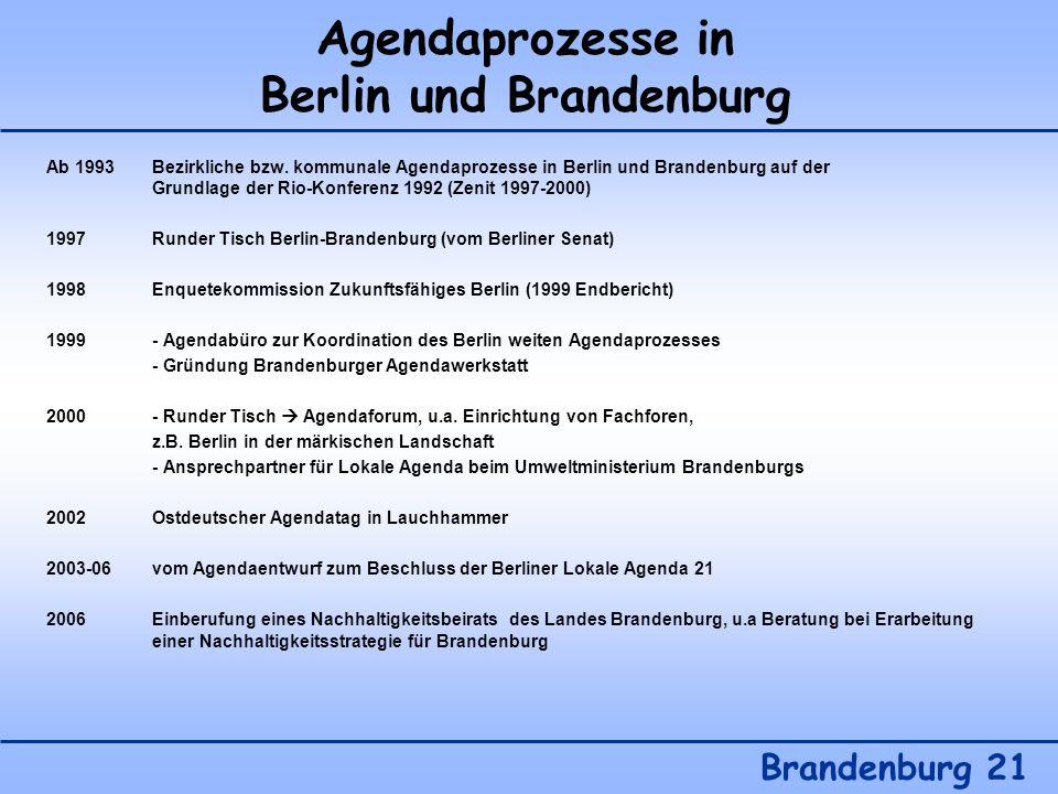 Agendaprozesse in Berlin und Brandenburg