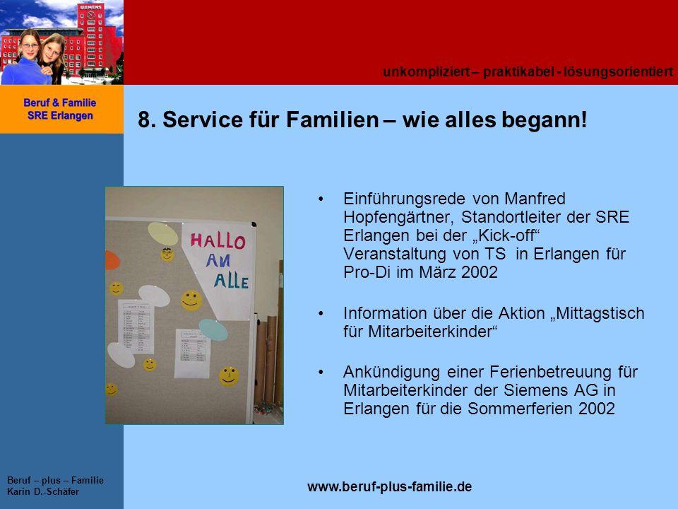 8. Service für Familien – wie alles begann!
