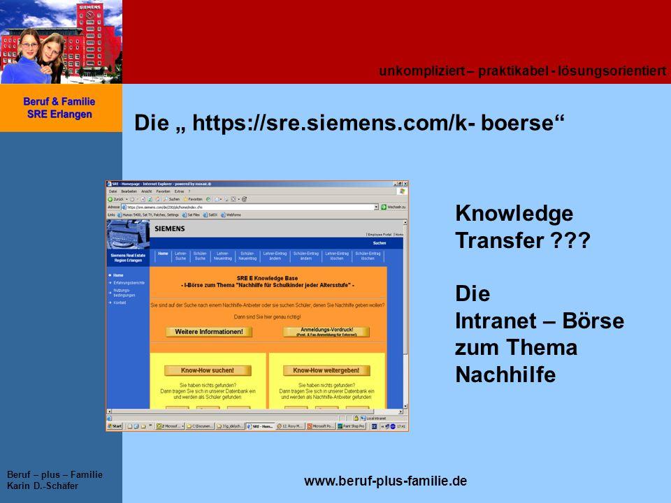 """Die """" https://sre.siemens.com/k- boerse"""