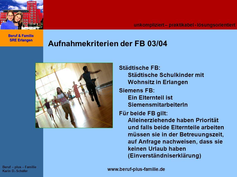 Aufnahmekriterien der FB 03/04