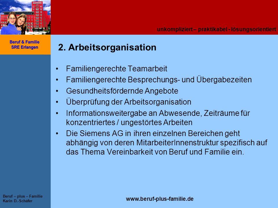 2. Arbeitsorganisation Familiengerechte Teamarbeit