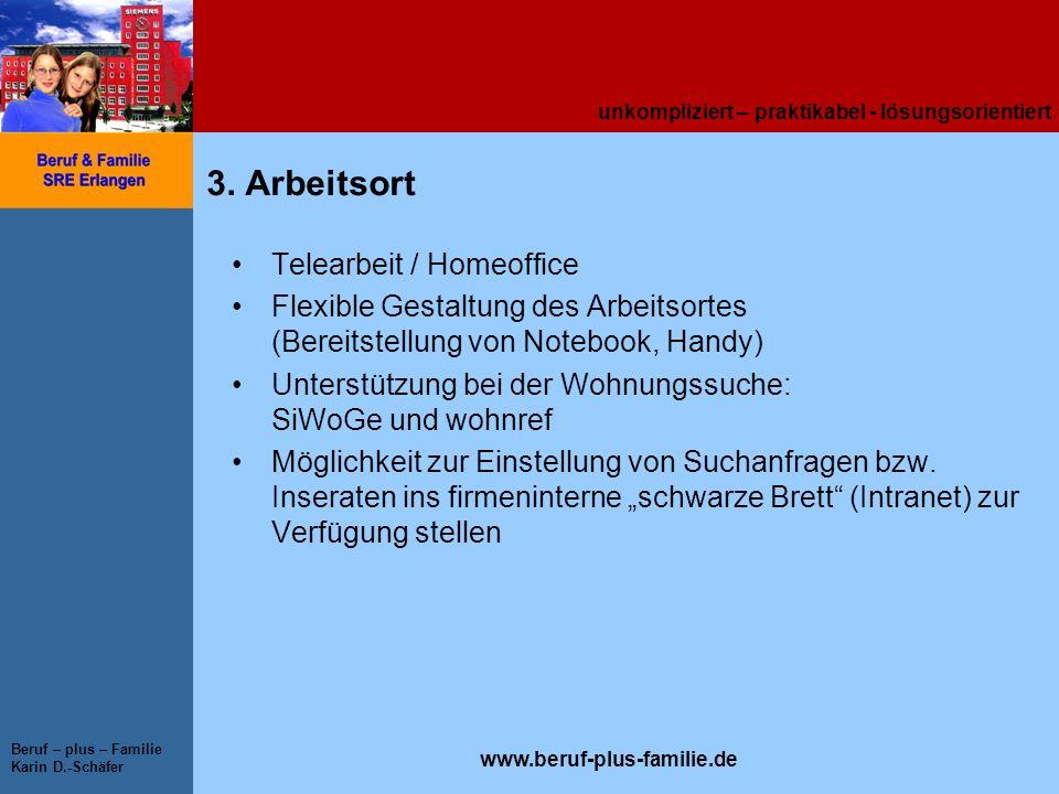 3. Arbeitsort Telearbeit / Homeoffice