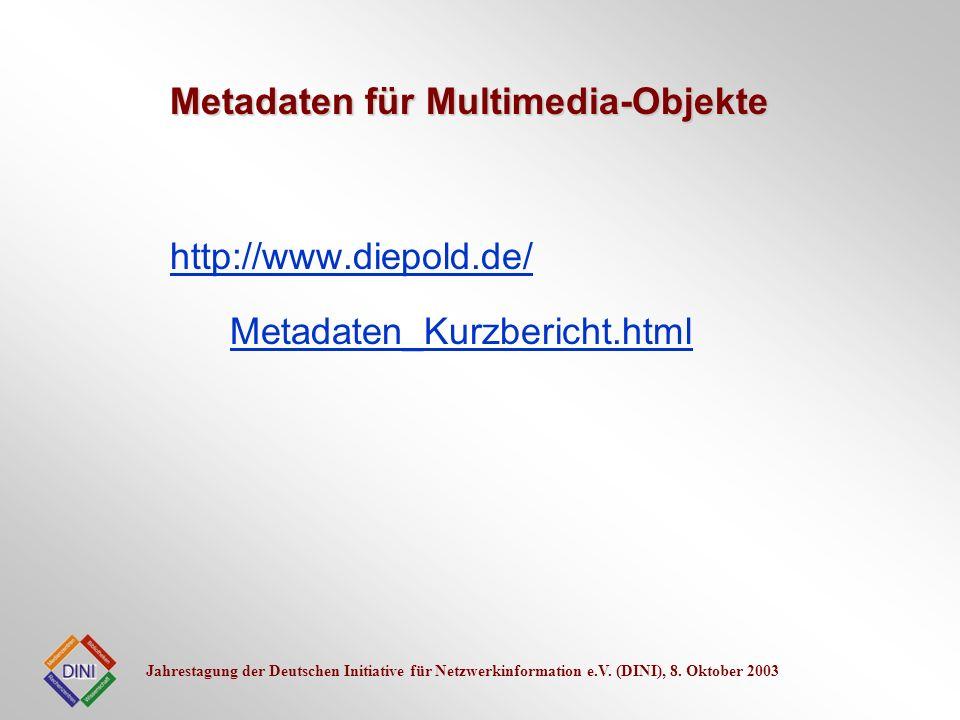 Metadaten für Multimedia-Objekte