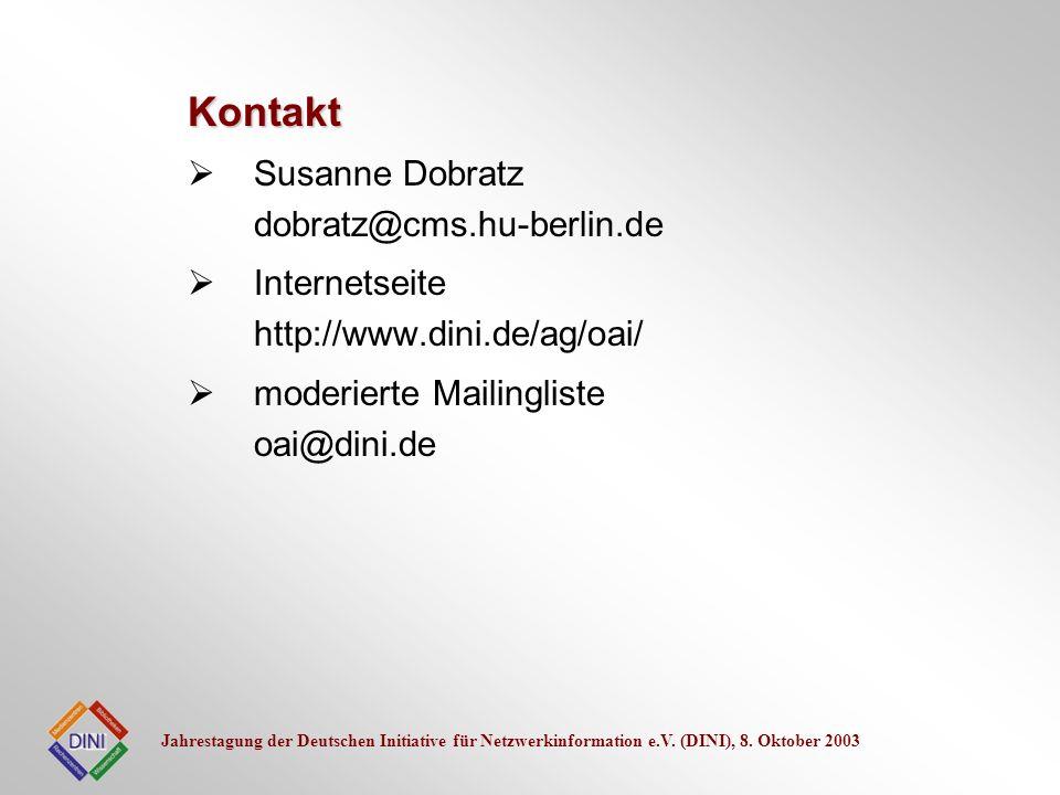 Kontakt Susanne Dobratz dobratz@cms.hu-berlin.de