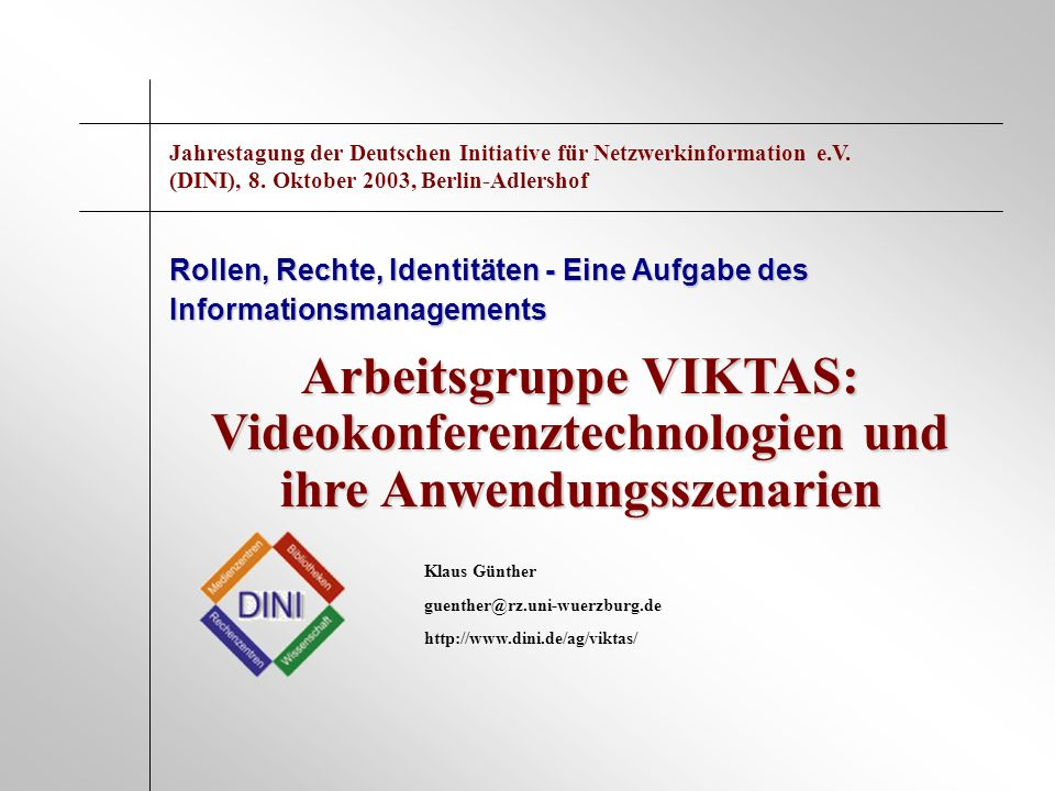 Jahrestagung der Deutschen Initiative für Netzwerkinformation e. V