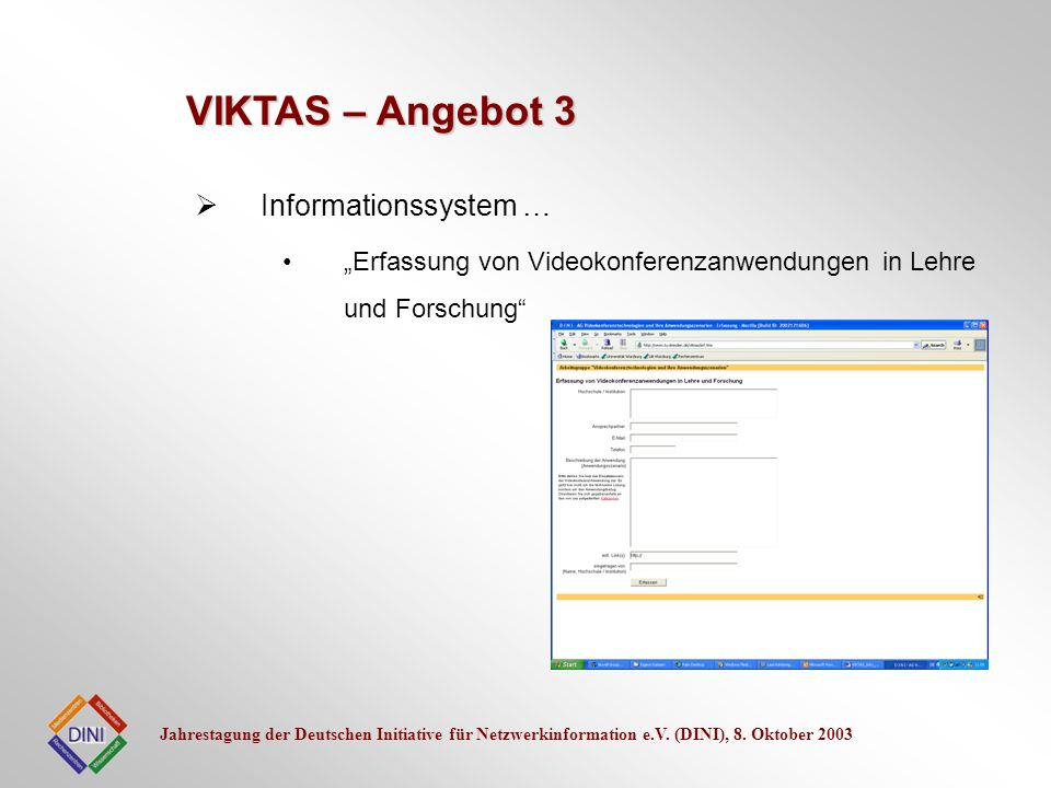 VIKTAS – Angebot 3 Informationssystem …