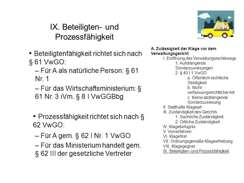 IX. Beteiligten- und Prozessfähigkeit