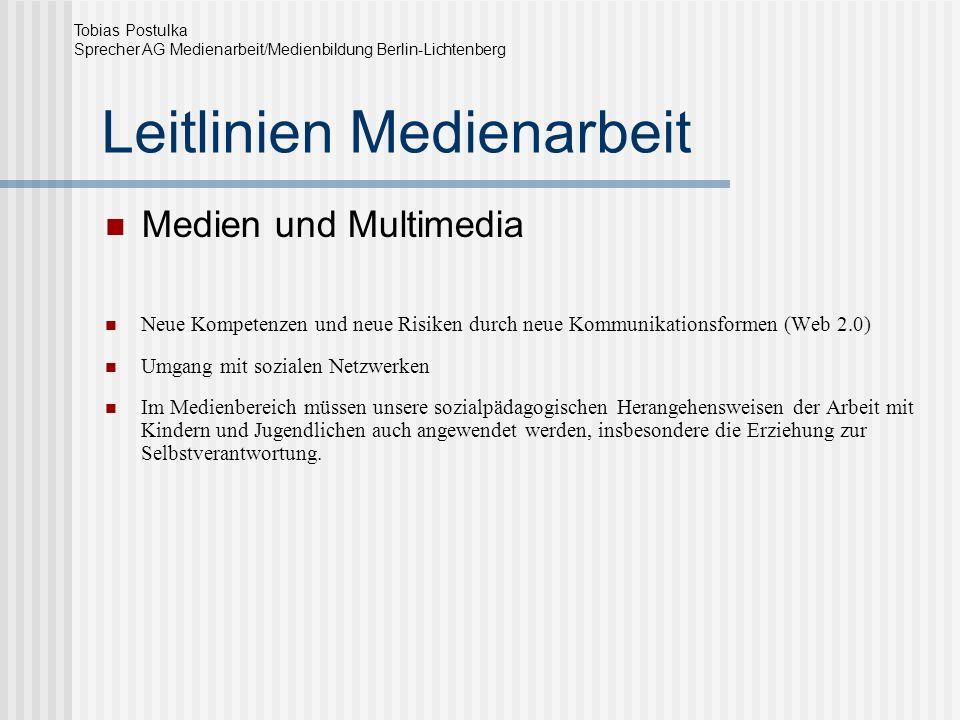 Leitlinien Medienarbeit