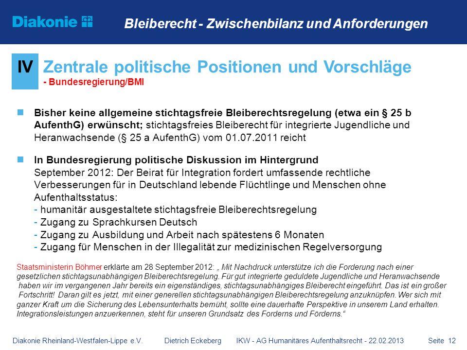 Zentrale politische Positionen und Vorschläge - Bundesregierung/BMI