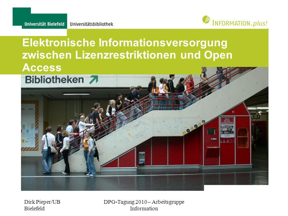 DPG-Tagung 2010 – Arbeitsgruppe Information