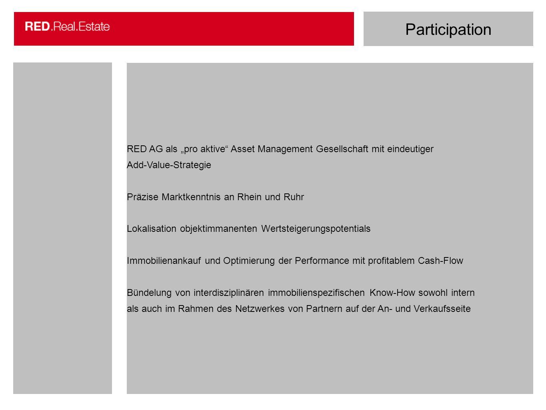 """Participation RED AG als """"pro aktive Asset Management Gesellschaft mit eindeutiger. Add-Value-Strategie."""