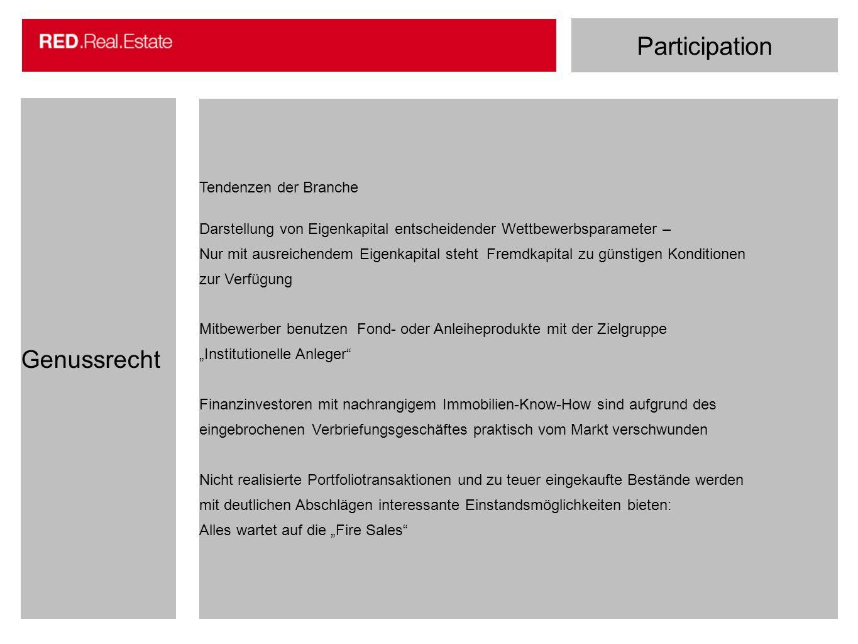 Participation Genussrecht Tendenzen der Branche