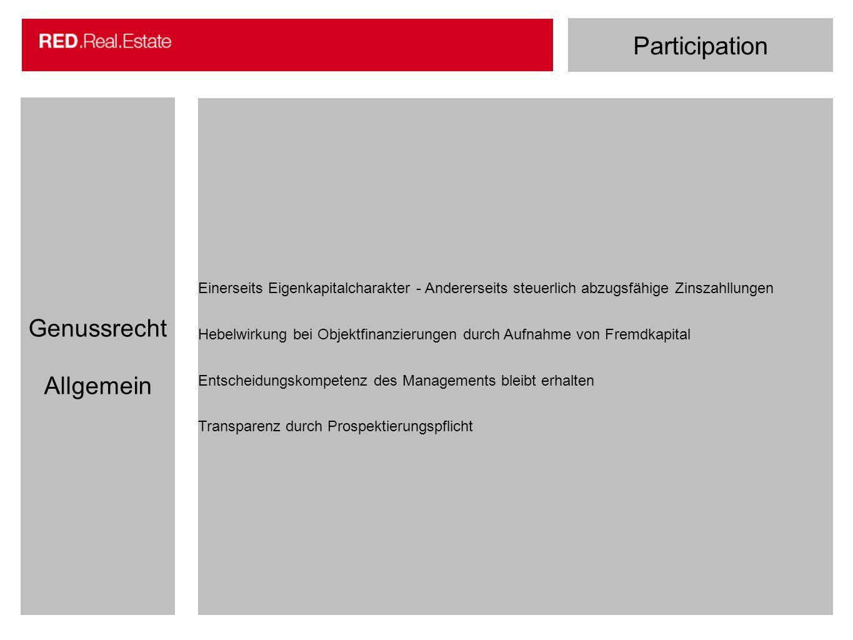 Participation Genussrecht Allgemein