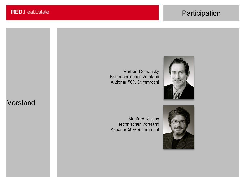 Participation Vorstand Herbert Domansky Kaufmännischer Vorstand