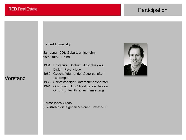 Participation Vorstand Herbert Domansky