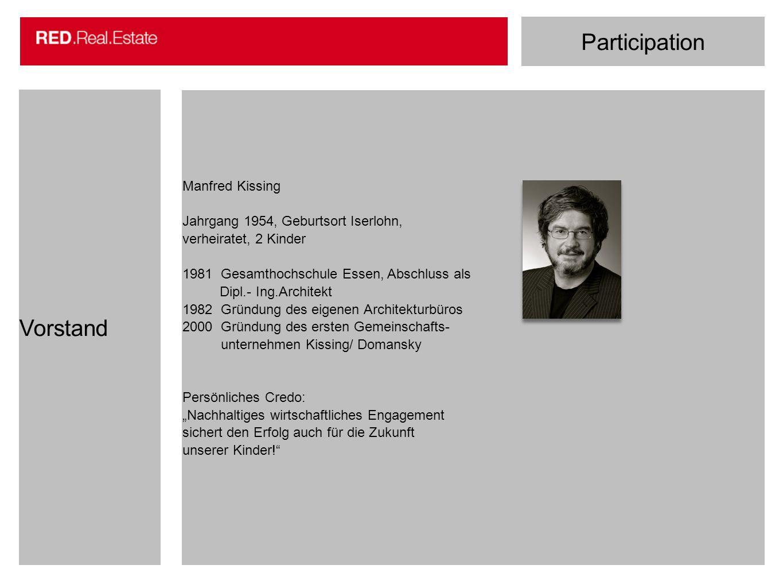 Participation Vorstand Manfred Kissing