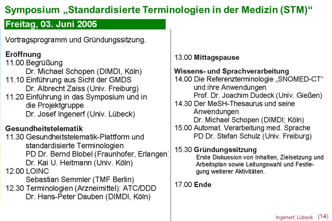 """Symposium """"Standardisierte Terminologien in der Medizin (STM)"""