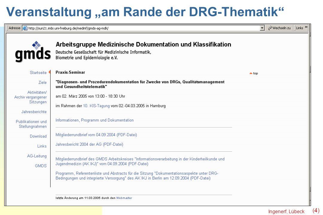 """Veranstaltung """"am Rande der DRG-Thematik"""