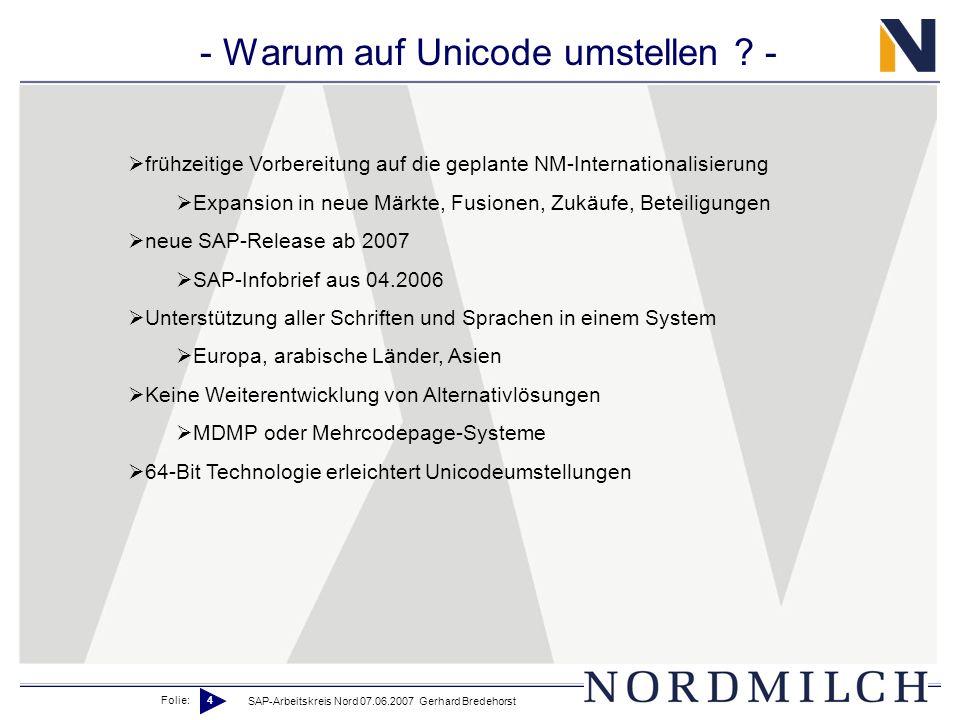 - Warum auf Unicode umstellen -