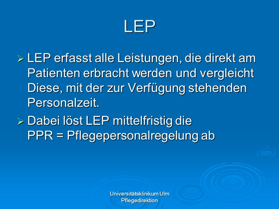 Universitätsklinikum Ulm Pflegedirektion