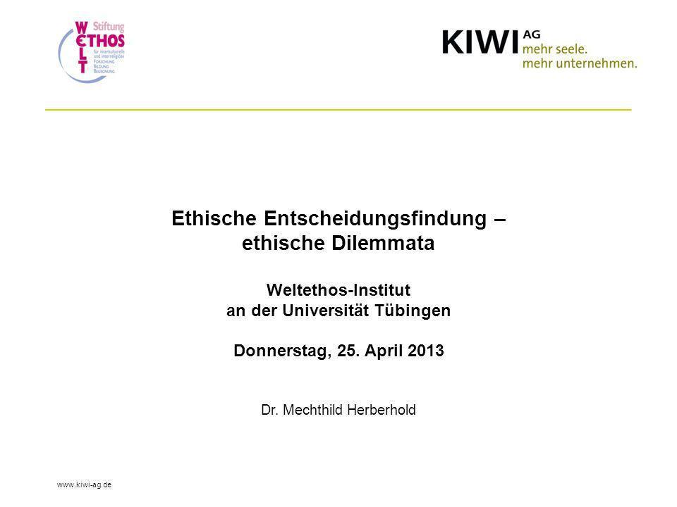 Ethische Entscheidungsfindung – ethische Dilemmata